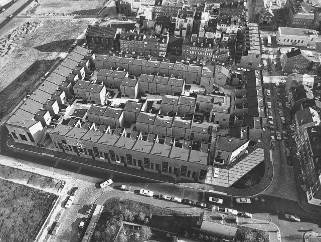 Aerial View, Penns Landing Square, Philadelphia. Louis Sauer Associates.