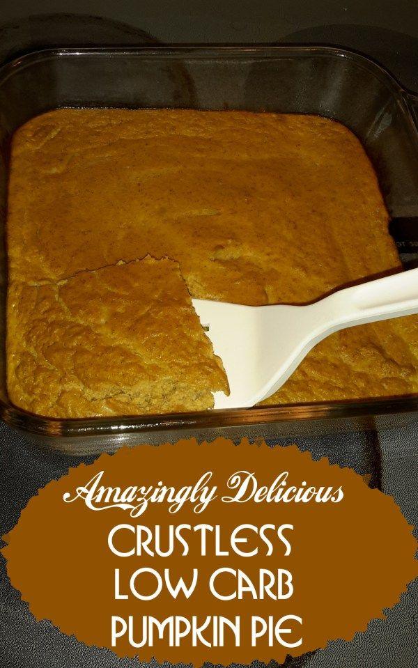 low carb pumpkin pie1 can (15 ounces) pumpkin (NOT pumpkin pie mix) 1/2 cup milk 4 large eggs, beaten 2 tsp vanilla 1/4 cup Splenda 1/2 tsp salt 2 tsp pumpkin pie spice fat free or low fat frozen whipped topping