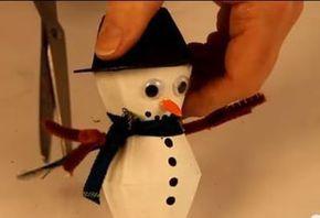 """Cum să faci o decoraţiune """"Om de zăpadă"""" - Video"""