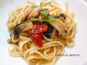 PASTA PESCE SPADA MELANZANE E MENTA - ricetta siciliana