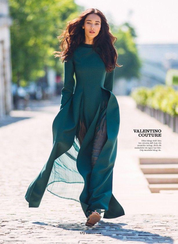 Elle Vietnam October 2014 | Daniela De Jesus by Benjamin Kanarek [Couture]