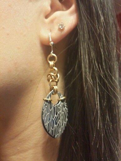 Feather Scale Earrings