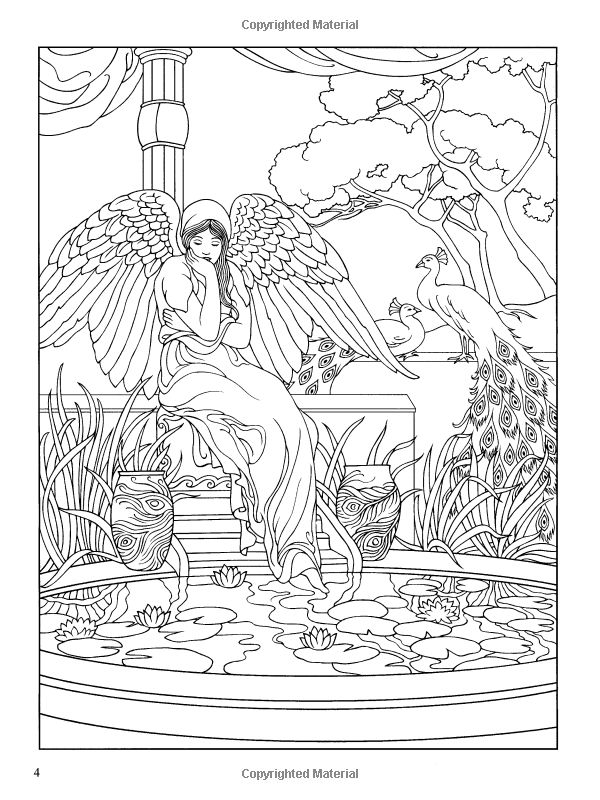 Angels coloring book dover coloring books marty noble Coloring books for adults on amazon