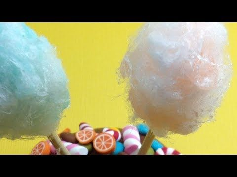 how to: cotton candy/candy floss made of Fimo liquid and cotton