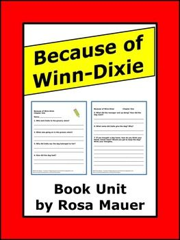 """because of winn dixie essay question Record your understanding of text-dependent analysis questions by  write an  essay to analyze why """"because of winn dixie"""" is an appropriate title for the."""