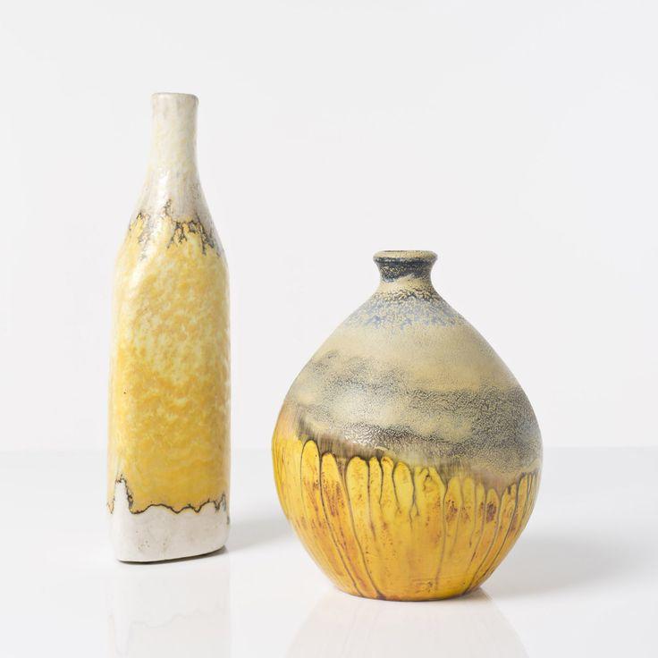 Marcello Fantoni (1915-2011)  - Deux vases, Céramique émaillée, Signés, Date de[...]   Dans la vente Verreries et Céramiques du XXe siècle à Piasa