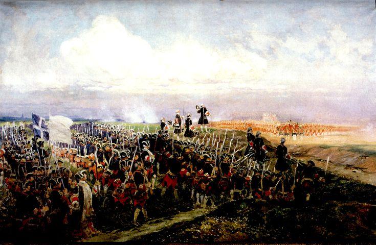 Das Aufeinandertreffen der Garden. Gemälde von Edouard Detaille