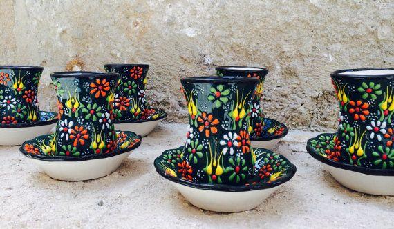 Turkish Ceramic Tea Cup Set of Six, istanbul shopping