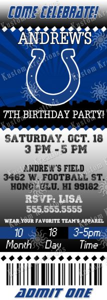 nfl-indianapolis-colts-ticket-birthday-invitation  https://www.fanprint.com/licenses/indianpolis-colts?ref=5750