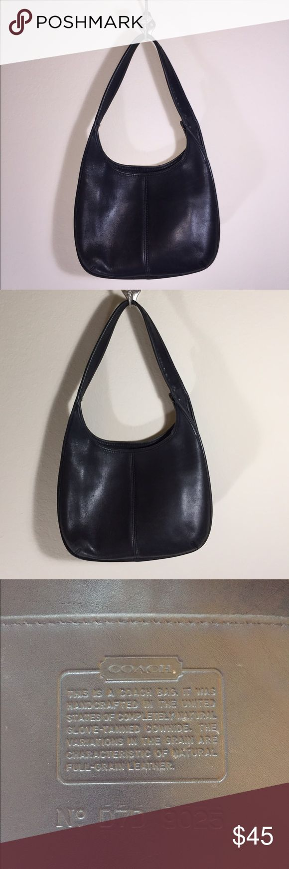 """Coach Leather Black Purse Good pre-loved condition. Showing some wear on the bottom corners. Very soft leather. Length - 12"""" 🔅 Height - 9"""" 🔅 Width - 2"""" Coach Bags Shoulder Bags"""