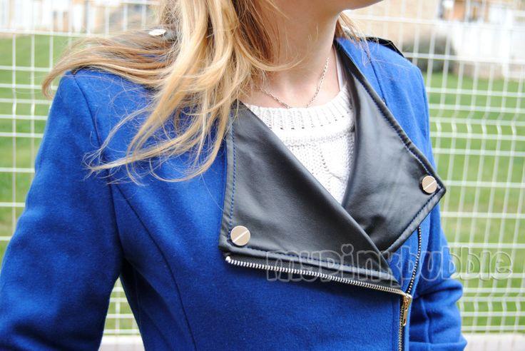 Outfit abrigo azul