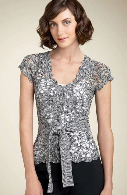 Hairpin Lace is one the many crochet technique that for me gives a very modern look to a dress or tunic and more. The finished pieces are ...