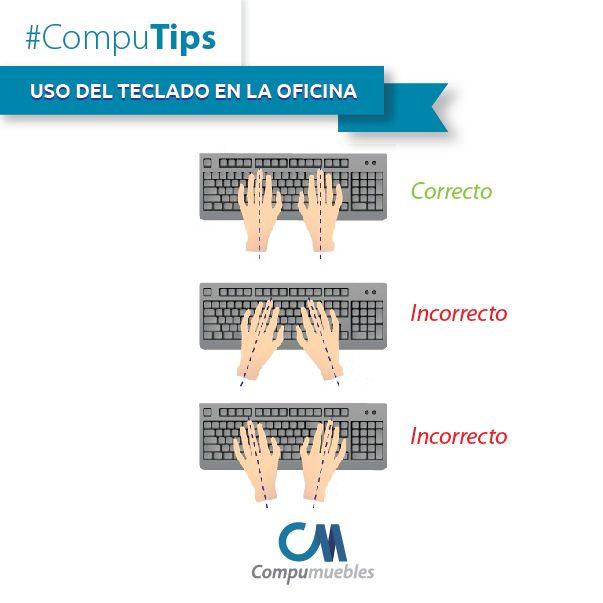 #CompuTips para la oficina. ¡El uso correcto del teclado te lo enseñamos acá! www.compumuebles.com