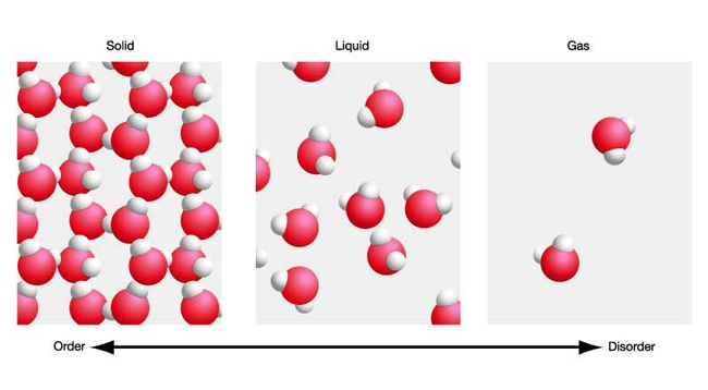 Water Molecules In Different States