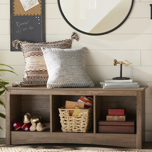 Features:  -Three storage compartments ideal for blankets, shoes, baskets and books.  -Perfect for any front hallway, mudroom, or foot of a bed.  -Attractive profiled MDF top and moldings.  Bench Type