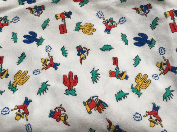 Vintage Cowboys & Indians Fabric