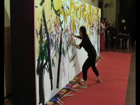 "Cinzia Fiaschi Action Painting ""In Rosae Gesto"" Palazzo Strozzi Firenze ..."