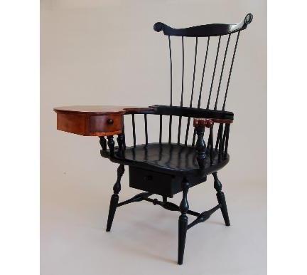 Windsor Writing Chair | Custom Comb Back Windsor Writing Arm Chair (Rt  Handed)