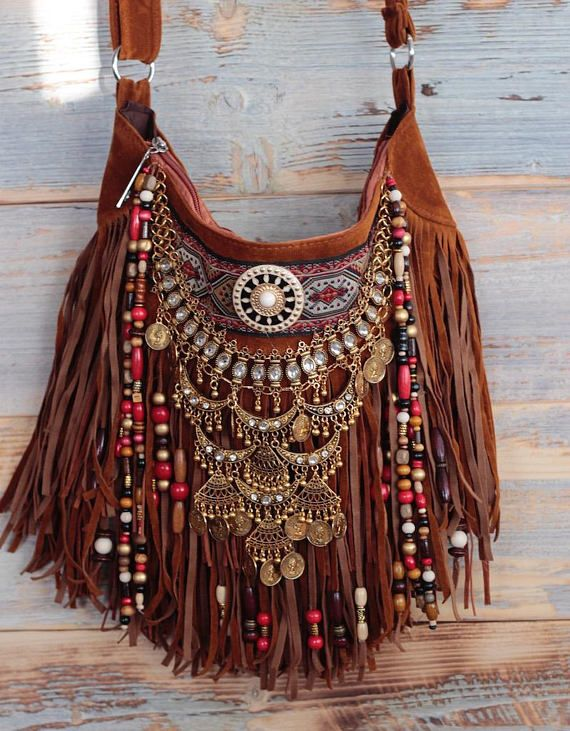 a06c4e0f660f Native american bag festival bag hippie bag boho bag Leather Belt Bag