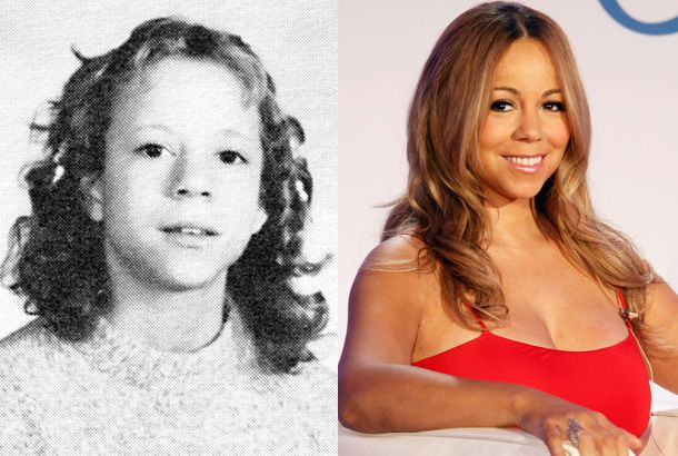 Mariah Carey in Seventh Grade at Oldfield Junior High in Greenlawn, New York, in 1982 and Mariah Carey in 2011