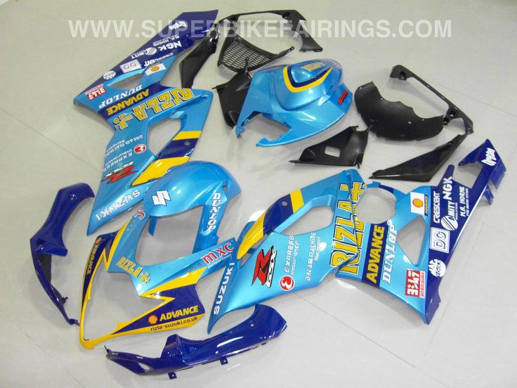 2005-2006 GSXR-1000 Light Blue Rizla Fairings