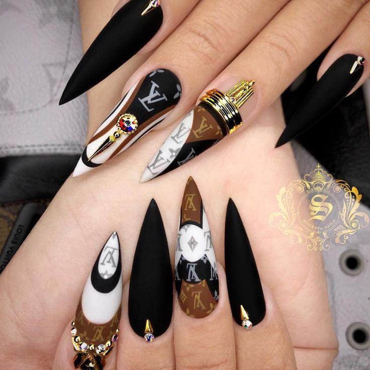 картинки острых ногтей с дизайном трешер опытный