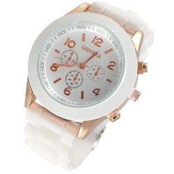 Horloge gespsluiting Bright-White Rose Gold