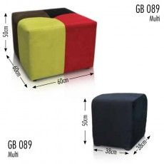 4 Colour Square Footstool  Sofas Brighton