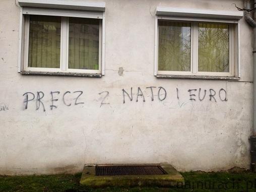 NATO i EURO - graffiti Wrocław #napisypolityczne #graffiti #NATO #EURO
