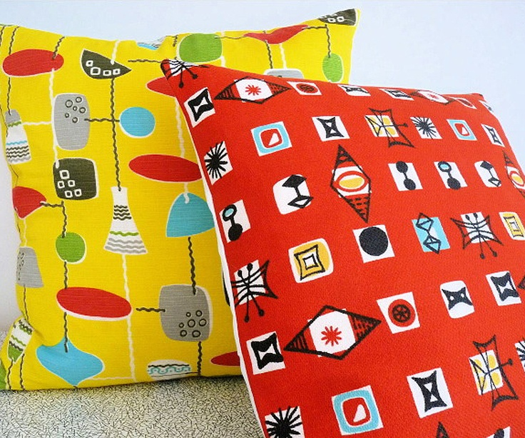 50s Marian Mahler fabric cushion from Jane Foster