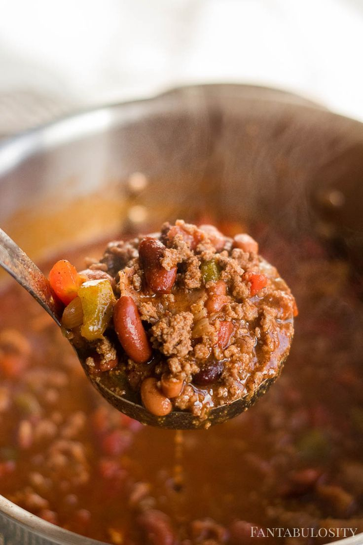 Venison Chili Recipe For Stovetop Or Slow Cooker Such A Great Way To Use Ground Venison Deer Recipes Deer Meat Recipes Venison Recipes