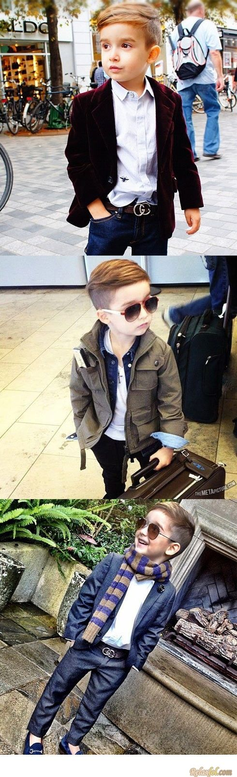 Even little men need to be fashionable #fashion #menswear #cute #kids #style #stylish #guys #men #learnfromthemaster