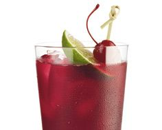 The Cabana:  - Fill a tall glass with ice  - Add 1 1/2 oz Absolut Berri Acai Vodka  - Top with 4 oz. cranberry juice and 1 oz. pineapple juice  - Garnish with a lime wedge and a cherry