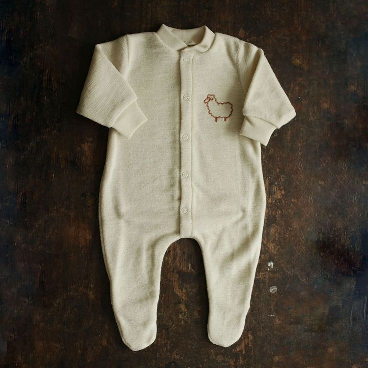 Organic Merino Wool Terry Pyjamas - Red, Blue or Natural – MamaOwl