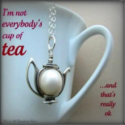 .If only we could all remember this: In A Teacups, Teas Time, Teas Cups, Silver Teapots, Teapots Charms, Cups Of Teas, Teapots Necklaces, Teas Parties, Teas Kettles