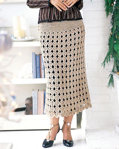long crochet skirt pattern via 20 Popular Free #Crochet Skirt Patterns for Women