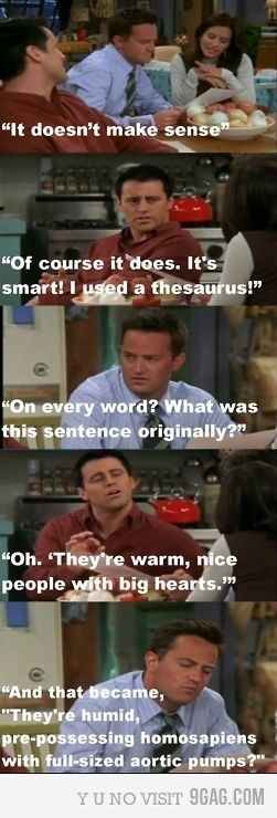 For use in teaching kids how/how not to use the thesaurus!