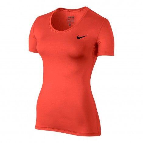 #Nike Pro #fitness shirt dames max orange