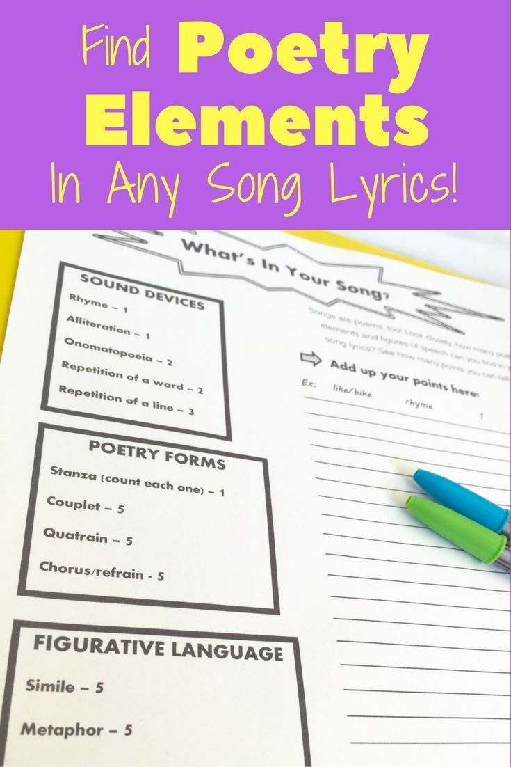 music to inspire poetry writing activities