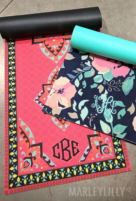 Make working out fun with these NEW Monogrammed Yoga Mats! Click to shop these adorable must-haves!