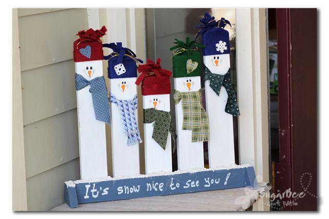 Sugar Bee Crafts: Greeting Snowmen