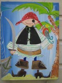 Vrolijkeboel Piraat naast Palm