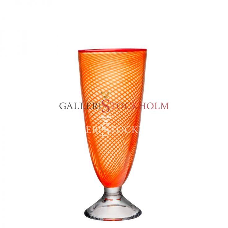 Bertil Vallien - Glaskonst - Red Rim - Vas 260 mm Beställ här! Klicka på bilden.