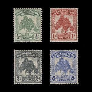 Gilbert & Ellice Islands 1911 (Unused) Pandanus Pine Definitives