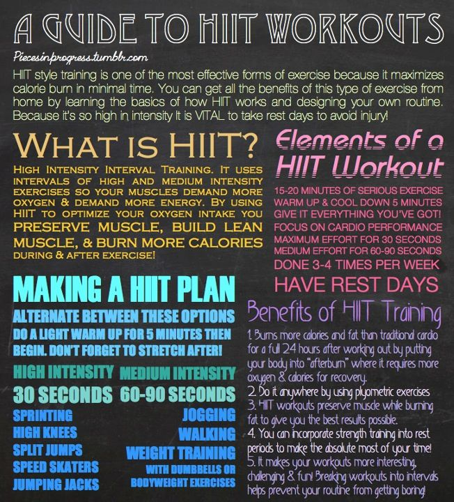 Hiit workouts! Definitely part of my training