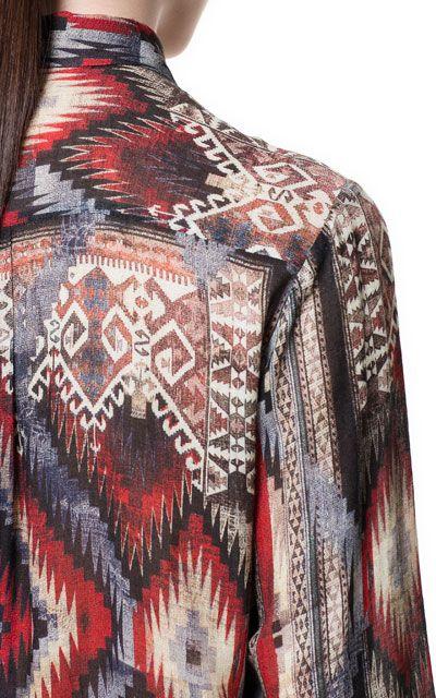 Image 3 of ETHNIC PRINT SHIRT from Zara