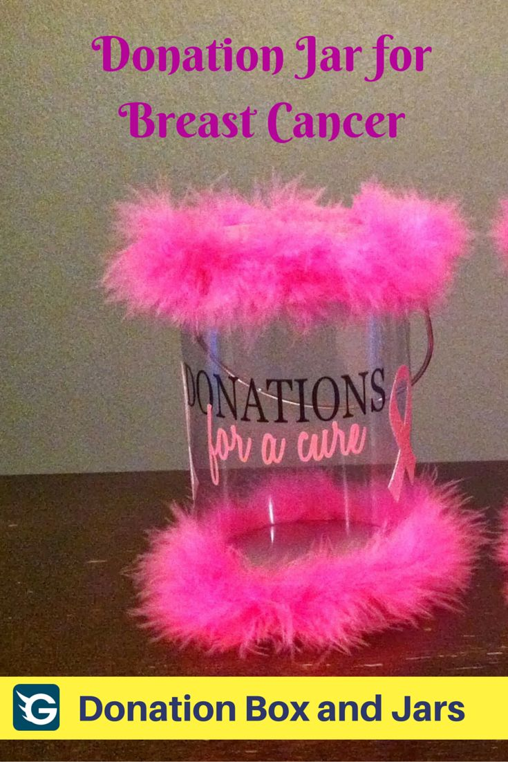 Girly #donationjar for breast cancer fundraiser! Create your online fundraising campaign at http://gogetfunding.com/