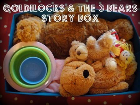 Goldilocks The Three Bears Story Box