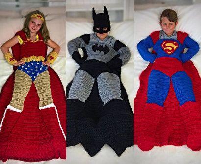 Batman Superman And Wonder Woman Crochet Blanket Patterns