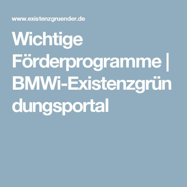 Wichtige Forderprogramme Bmwi Existenzgrundungsportal Programm Grundung Finanzierung